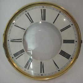 Wijzerplaat wit met glasdeurtje diameter 20 cm