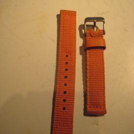 Horlogebandje gevlochten oranje