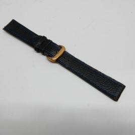 Horlogebandje zwart met stiksel rand 20 mm