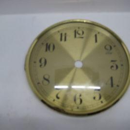 Wijzerplaat 13 cm met glas gewone cijfers
