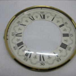 Wijzerplaat 13 cm met glas romeise cijfers