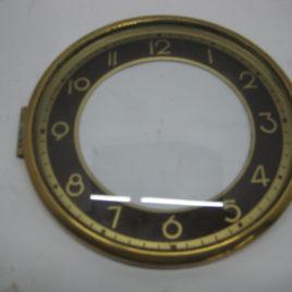 Wijzerplaat 13 cm met glas bruine achtergrond