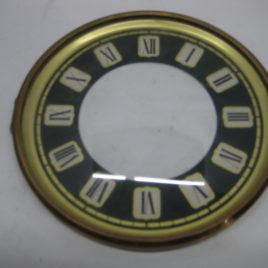 Wijzerplaat 13 cm met glas romeise blokjes