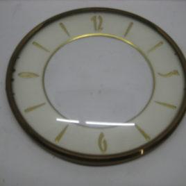 Wijzerplaat 13 cm met glas 3,6,9,12 cijfers
