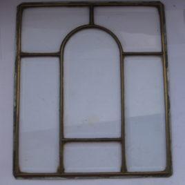 Glas in lood raam rond midden