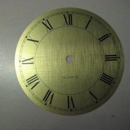 Goudkleurige wijzerplaat doorsnee 16 cm no 2312