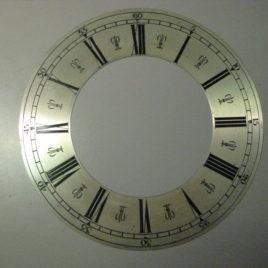 Ringwijzerplaat verzilverd doorsnee 23,5 cm no 2315