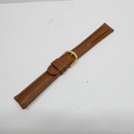 Horlogebandje Bruin 18 mm gestikt