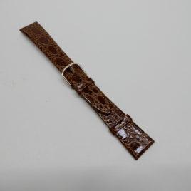 Horlogebandje bruin 18 mm slangenprint