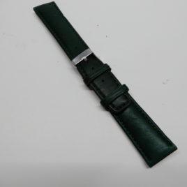Horlogebandje 20 mm groen stevig en gestikt
