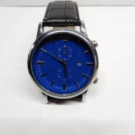Blauw met datum doorsnee 4.5 cm