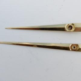 Wijzers lang smal lengte 8,5 en 12 cm no 23