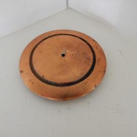 Slingerschijf rood koper met gaatje doorsnee 12 cm no 3