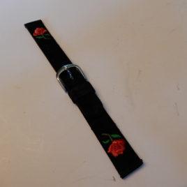 Horlogebandje 14 mm fluweel met roosje