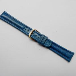 Horlogebandje blauw 18 mm stevig gemaleerd