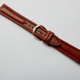 Horlogebandje bruin 18 mm stevig met gleuf voor pinnetje