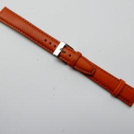 Horlogebandje Middenbruin 18 mm gestikt