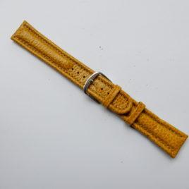 Horlogebandje  18 mm geel gestikt