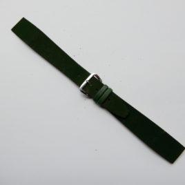 Horlogebandje 18 mm fluweel groen