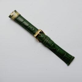 Horlogebandje 18 mm blokmotief groen