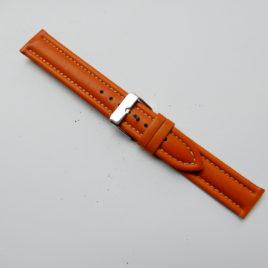 Horlogebandje Midden bruin 18 mm stevig gestikt