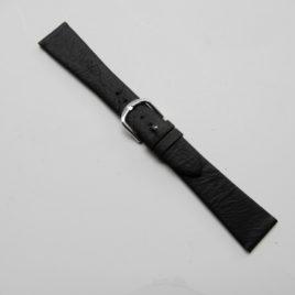Horlogebandje zwart 20 mm