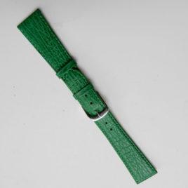 Horlogebandje groen slangenprint 20mm