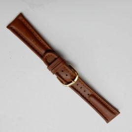Horlogebandje bruin stevig 20 mm