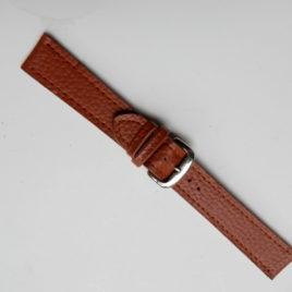 Horlogebandje bruin gemaleerd 20 mm