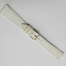 Horlogebandje wit 20 mm dun