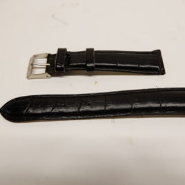 Zwart bandje geschubt 18 mm  breed