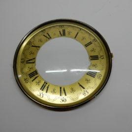 Wijzerplaat met glas romeinse cijfers doornsnee 15,5 cmno 75