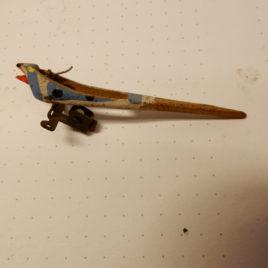Koekoek 7 cm wit blauw