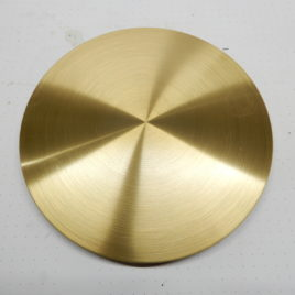 Messing slingerschijf mat 14 cm doorsnee