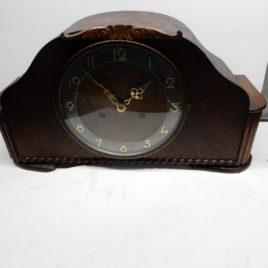 Pendule donkerbruin breed 40 cm