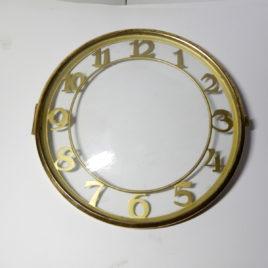 Wijzerplaat met glasdeurtje doorzichtig doorsnee 15,5 cm no 105